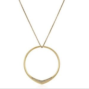 NWT Michael Kors Hoop Pave Pendant Necklace
